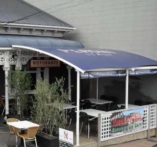 TMS Commercial 3 320x300 - Fixed Frame PVC Canopies (Tensioned Membrane Structure)
