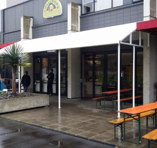 TMS Commercial 5 320x300 - Fixed Frame PVC Canopies (Tensioned Membrane Structure)