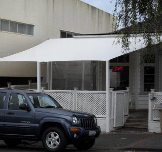 TMS Commercial 8 320x300 - Fixed Frame PVC Canopies (Tensioned Membrane Structure)