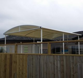 TMS Commercial PVC Retirement Home 320x300 - Fixed Frame PVC Canopies (Tensioned Membrane Structure)