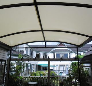 TMS Commercial Resthome 320x300 - Fixed Frame PVC Canopies (Tensioned Membrane Structure)