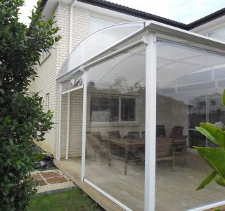 Auckland Deck Canopy and clear screen