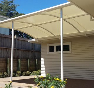 TMS Residential 16 320x300 - Fixed Frame PVC Canopies (Tensioned Membrane Structure)