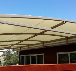 TMS Residential 17 320x300 - Fixed Frame PVC Canopies (Tensioned Membrane Structure)