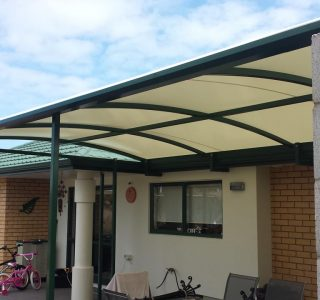 TMS Residential 18 320x300 - Fixed Frame PVC Canopies (Tensioned Membrane Structure)