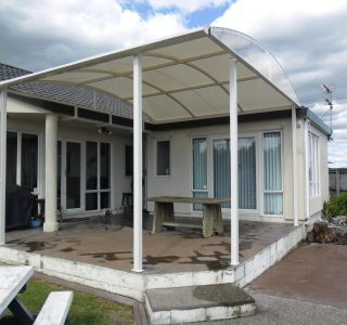 TMS Residential 3 320x300 - Fixed Frame PVC Canopies (Tensioned Membrane Structure)