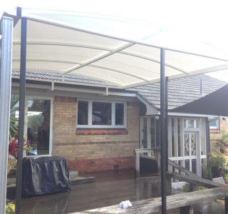 TMS Residential 5 320x300 - Fixed Frame PVC Canopies (Tensioned Membrane Structure)