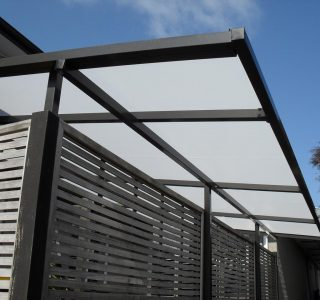 TMS Residential 50 320x300 - Fixed Frame PVC Canopies (Tensioned Membrane Structure)