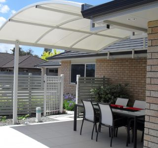 TMS Residential 59 320x300 - Fixed Frame PVC Canopies (Tensioned Membrane Structure)