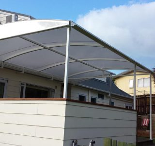 TMS Residential 8 320x300 - Fixed Frame PVC Canopies (Tensioned Membrane Structure)
