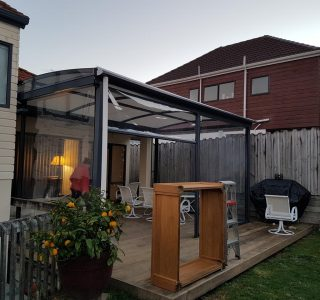 TMS and Screens Residential 1 320x300 - Fixed Frame PVC Canopies (Tensioned Membrane Structure)