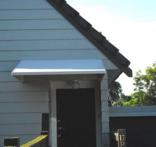 Wedge Awning Residential 12 320x300 - Fixed Frame PVC Canopies (Tensioned Membrane Structure)