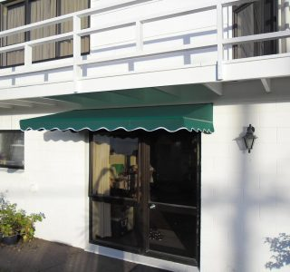 Wedge Awning Residential 15 320x300 - Fixed Frame PVC Canopies (Tensioned Membrane Structure)
