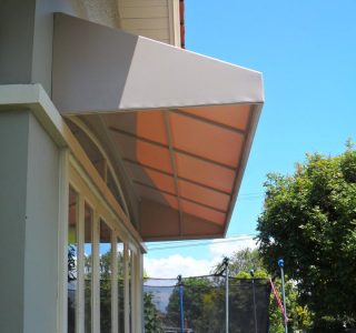 Wedge Awning Residential 18 320x300 - Fixed Frame PVC Canopies (Tensioned Membrane Structure)