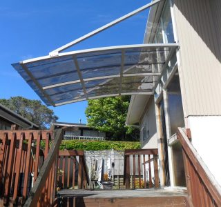 Wedge Awning Residential 19 320x300 - Fixed Frame Polycarbonate Canopies