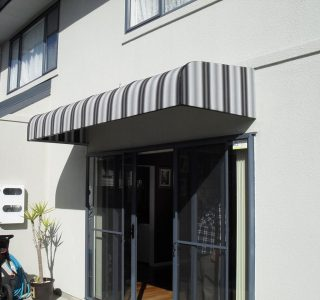 Wedge Awning Residential 21 320x300 - Fixed Frame PVC Canopies (Tensioned Membrane Structure)