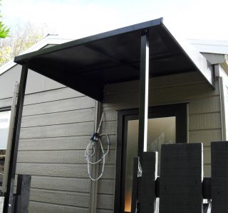 Wedge Awning Residential 4 320x300 - Fixed Frame PVC Canopies (Tensioned Membrane Structure)