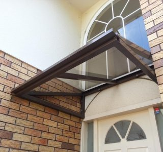 Wedge Awning Residential 5 320x300 - Fixed Frame PVC Canopies (Tensioned Membrane Structure)