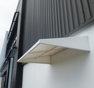Wedge awning Commercial Watson Hughes 320x300 - Fixed Frame PVC Canopies (Tensioned Membrane Structure)