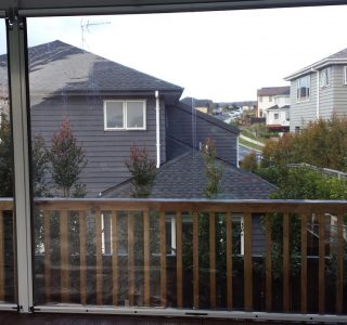 Ziptrak Screens clear PVC Residential 8 320x300 - Fixed Panel Screens / Wind Break