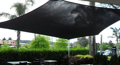 cafe shade sails - Café's