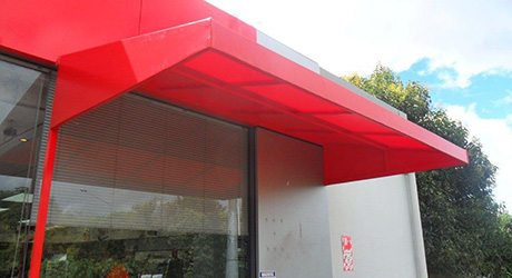 petrol station wedge awnings - Petrol Stations