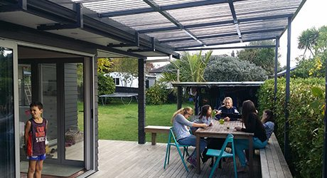 residential ola fixed frame awnings - Residential