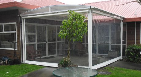 retirement fixed frame canopy - Retirement Villages