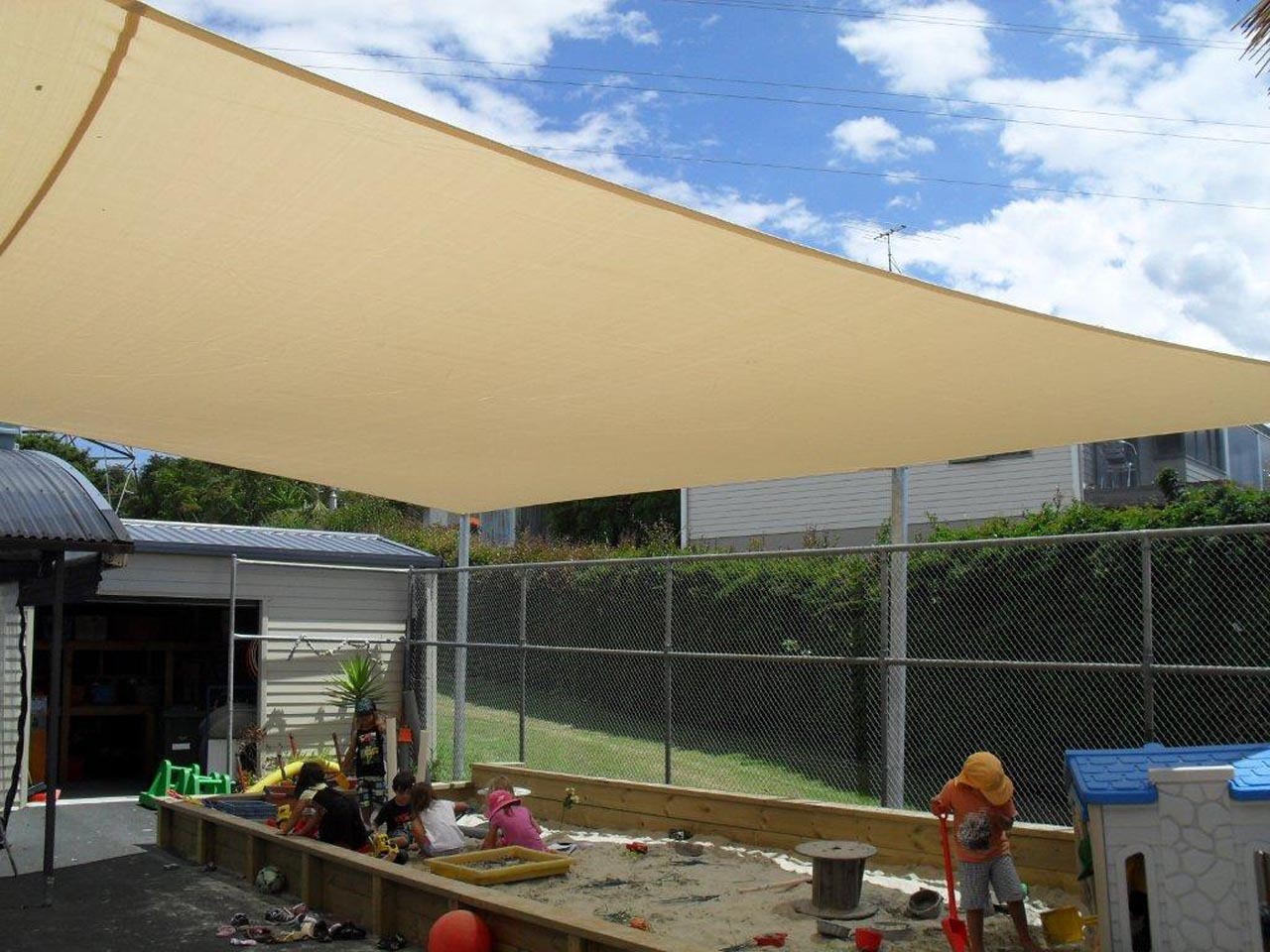 Shade Sail Commercial Freburg pre school 1 - Commercial Gallery