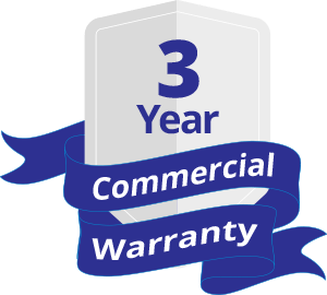 3 Years Commercial Warranty