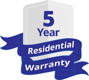 5 Years Residential Warranty