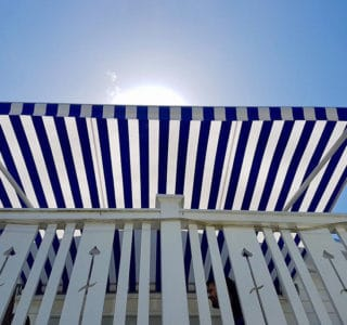 The Santana Classic Awning blue stripe 320x300 - The 'Santana' Classic